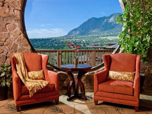 View From Cheyenne Mountain Resort In Colorado Springs Photo Media Image