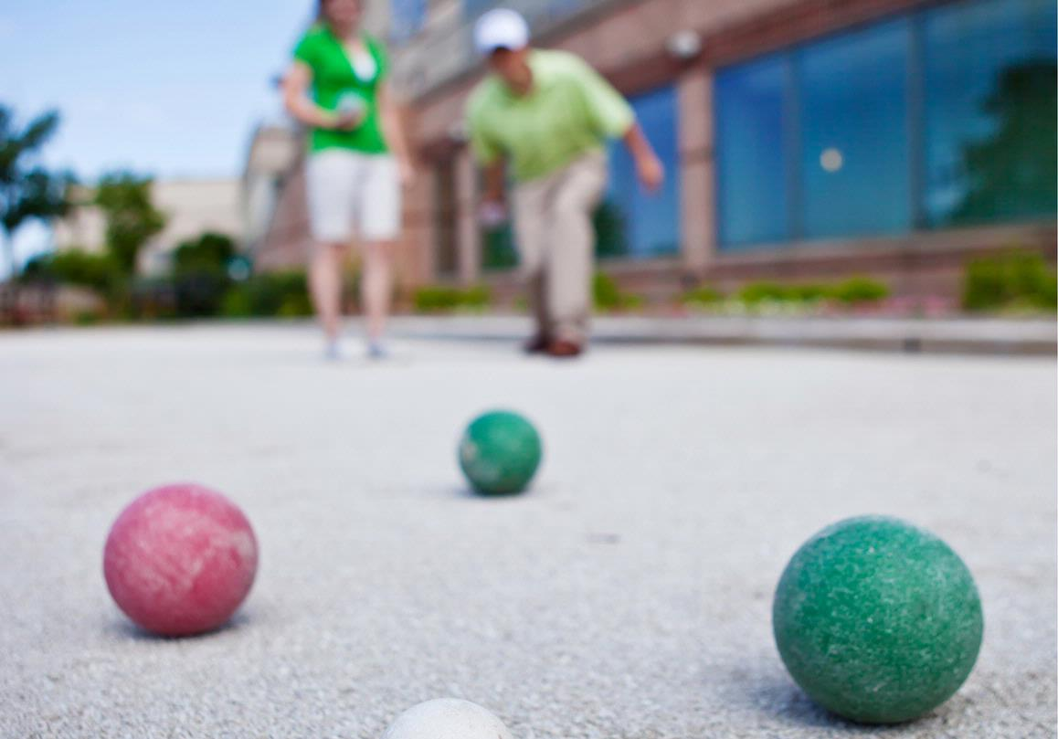 Bocce Ball on Prairie River Patio