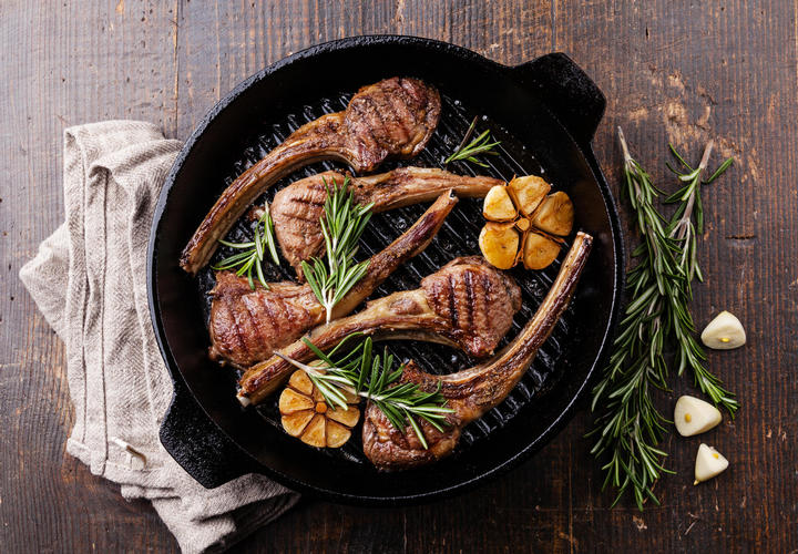 Lamb Chops In Skillet