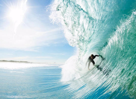 Surfer In Wave Barrel
